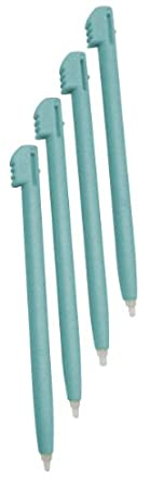 Gator Crunch Blue / Aqua Color Stylus Pen Set for Nintendo DS Lite (Lifetime Warranty, 4 pack) - Bulk Packaging