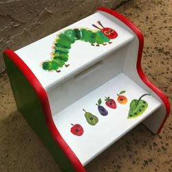 The Very Hungry Caterpillar Two Step Stool from Ababy