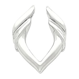 14k White Gold Pendant Enhancer - JewelryWeb