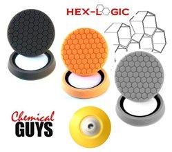 HEX LOGIC ROTARY BUFFING PAD SAMPLER PLATTER -HEX-LOGIC PADS + BACKING PLATE