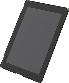 Power Support エアージャケットセット for iPad 第3世代/iPad 2/iPad 3 (ラバーコーティングブラック)