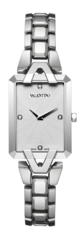 Valentino Women's V36SBQ9901 Gemme Rectangular White Dial Diamond Watch