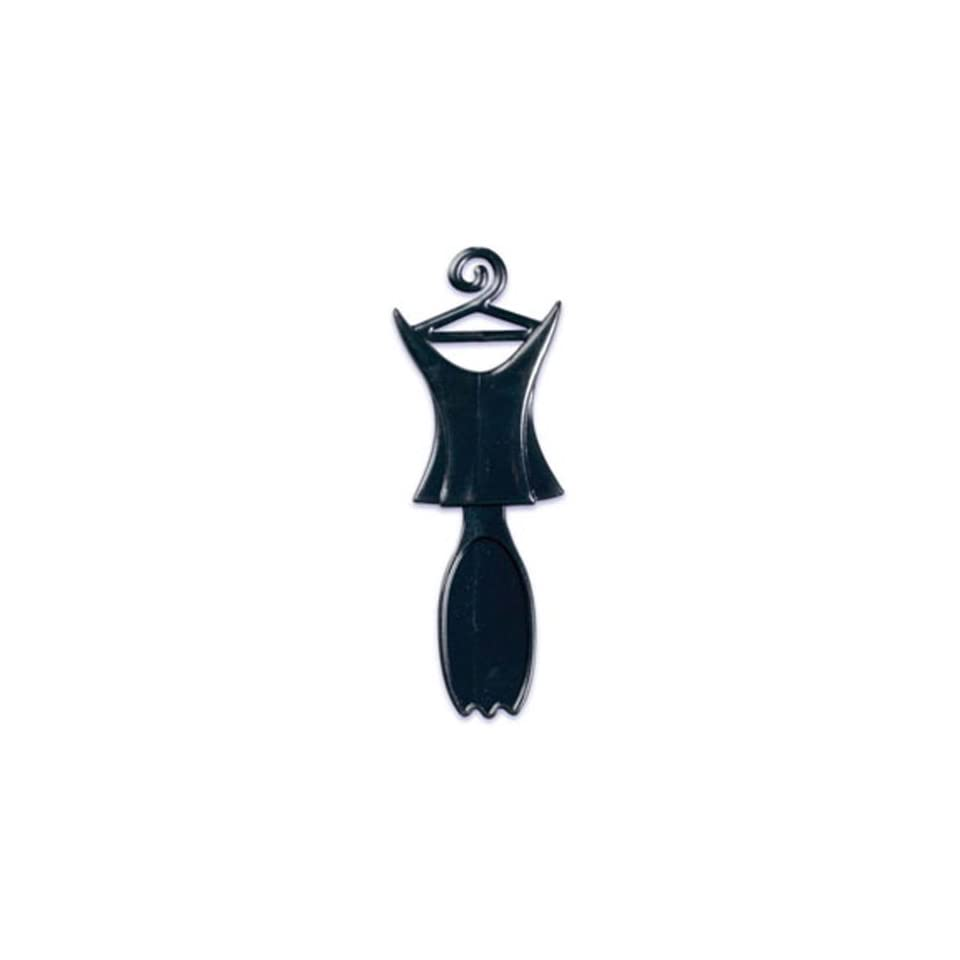 Dress My Cupcake DMC41W 819 12 Pack Little Black Dress Corset Spoon Pick Decorative Cake Topper, Wedding