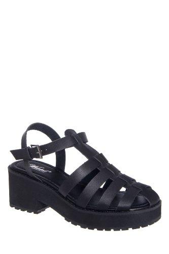Wanted Alba Mid Heel Gladiator Platform Ankle Strap Sandal