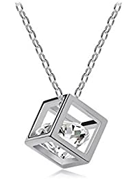 Nakabh Timeless Crystal Stone Pendant Chain/Necklace For Women & Girls