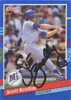 Scott Bradley Seattle Mariners 1991 Donruss Autographed Hand Signed Trading Card. by Hall+of+Fame+Memorabilia