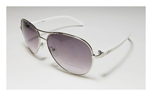[Guess 235 Womens/Ladies Aviator Full-rim Gradient Lenses Sunglasses/Shades (61-14-130, Silver /] (Bertha Red Costumes)