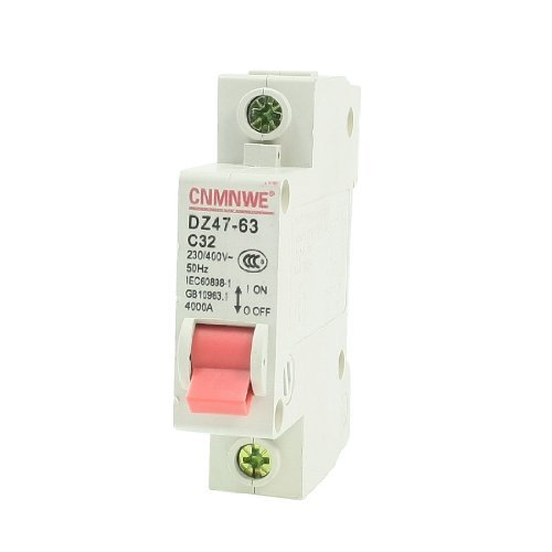 Water & Wood Ac 230/400V 32A 1-Pole Overload Protection Mcb Miniature Circuit Breaker