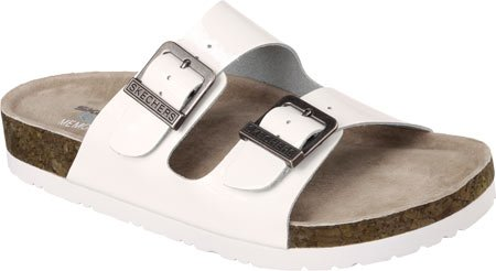 Skechers USA Granola-40742 Women's Sandal 6 B(M) US White-Shiny