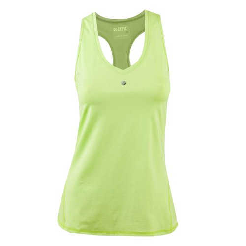 Ufc Women'S Octagon Kinetic T-Back Training Tank Top, Lime, Small