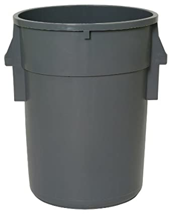 Continental Huskee BackSaver LLDPE Waste Receptacle, Round