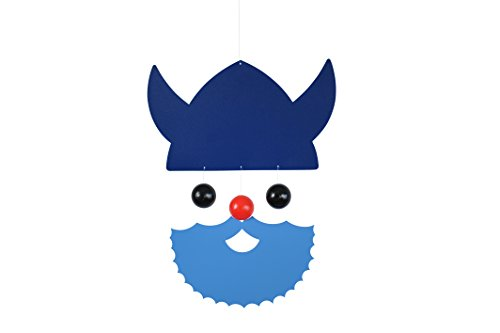 Flensted Mobiles Nursery Mobiles, Veteran Viking, Blue