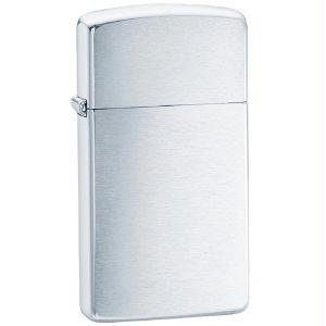 Original Zippo Lighter 1600 Slim Small Size Brush Chrome