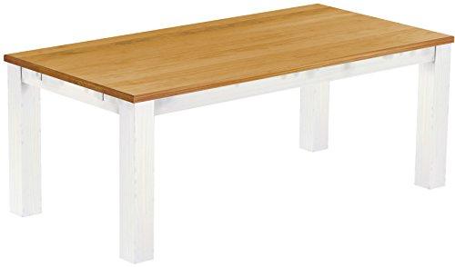 Brasilmoebel-Esstisch-Rio-Classico-200-x-100-cm-Pinie-Massivholz-Brasilmbel-Honig-Weiss-in-27-Gren-und-45-Farben-in-1215-Varianten-Echtholz-mit-33-mm-durchgehend-massiven-Platten-aus-nachhaltiger-Fors