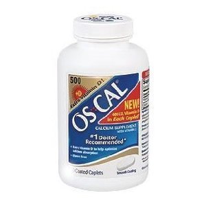 Os-Cal 500 + D Calcium Supplement with Extra Vitamin D - 300 Caplets