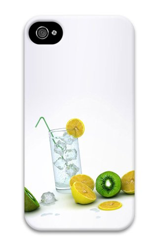 For Cheap Iphone 4S Cover Frozen Lemons Fruit 3D Case For Apple Iphone 4/4S front-812359