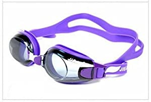 Adult Swimming Goggles Anti-fog Lens Comfort Fit Protect Adjustable Silicone Uv Glasses New (purple)