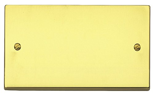 mk-k5329-pbs-savoy-plus-2-gang-double-blank-plate-polished-brass-by-mk