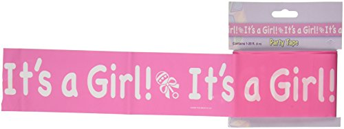Beistle 66121 It's a Girl! Party Tape, 3-Inch by 20-Feet - 1