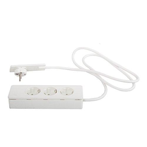 151000156300 Evoline Plug Schukostecker weiß