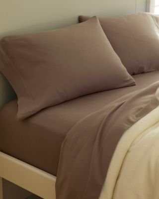 Garnet Hill Paintbrush Cotton Flannel Sheets Twin Extra Long Fitted Cocoa Price Anything Recessed C3