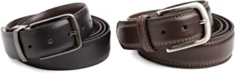 Dockers Men's Gift Set Of 2 Belts, Black/Brown, XX-Large