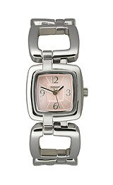 Fossil Women's Dress Pink Adjust-O-Matic watch #ES2276