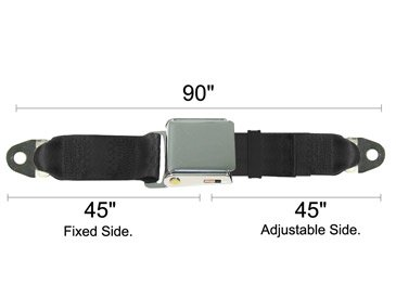 Maroon Universal Seat Belt W/ Chrome Lift Latch, Replacement Car Belt, 90 Inch, front-1020085