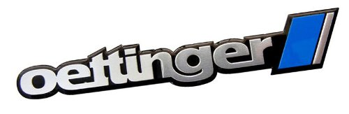 Oettinger Aluminum Engine Hood Emblem Badge Nameplate for Volkswagen VW Golf 5 6 7 Jetta 4 5 6 Amarok Bora Eos Polo Scirocco New Beetle Passatt CC 3C 3B 3BG Tiguan Touareg Touran Sharan Caddy Life Bus T5 (Oettinger Emblem compare prices)