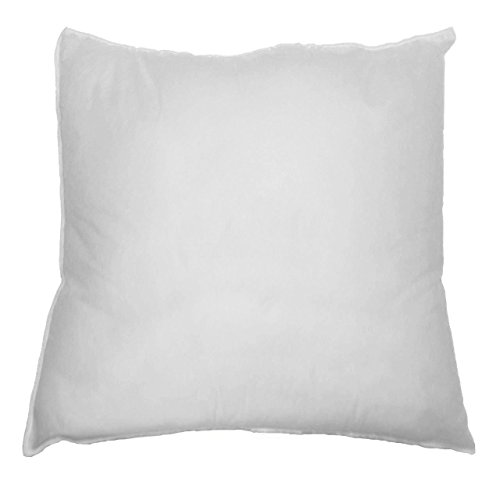 mybecca 18 x 18 sham stuffer square pillow form insert polyester standard white. Black Bedroom Furniture Sets. Home Design Ideas