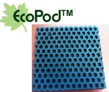 """4 Pack of Anti Vibration Pads 5 1/2"""" X 5 1/2"""" X 3/8"""" Solid Crumb Rubber Vibration Isolation Pads"""
