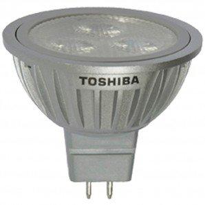 Toshiba 6Mr16/830Spot8 - 6.2W - 275 Lumens - Spot 8 - Gu5.3 Base - 12V - 3000K - 25000Hrs - Dimmable Led Mr16 Light Bulb