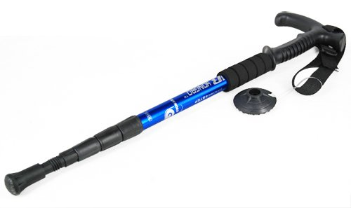 GadgetpoolUK FOLDING ANTISHOCK TREKKING HIKING POLE STAFF WALKING CANE STICK Adjustable Stretch From 19.6