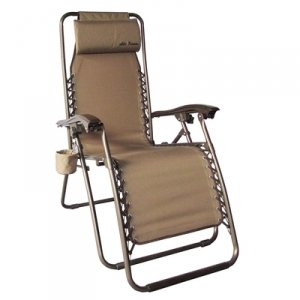 Mills Fleet Farm Anti-Gravity Chair Removable Headrest, Tan
