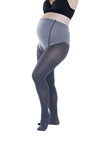Trasparenze Womens Maternity Pantyhose, Soft Cotton, Opaque 70 Denier (4 X Large, Antracite)