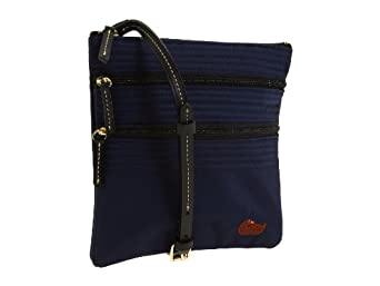 Dooney & Bourke North/south Triple Zip Crossbody Handbag, Navy