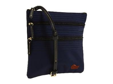 Dooney & Bourke North/south Triple Zip Crossbody Handbag, Navy