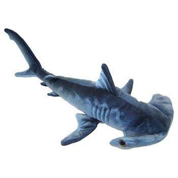 "Blue Printed Hammerhead Shark Plush Toy 24"" L front-45734"