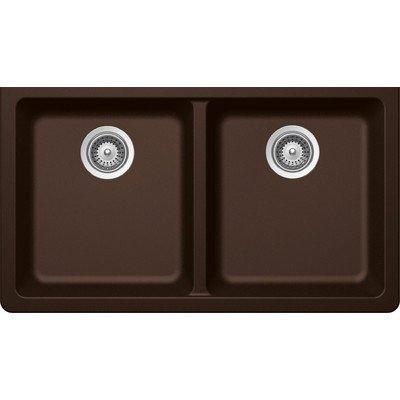 SCHOCK ALIN200T087 ALIVE Series CRISTADUR 50//50 Topmount Double Bowl Kitchen Sink Bronze