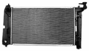 TYC 2428 Toyota 1-Row Plastic Aluminum Replacement Radiator (2004 Pontiac Vibe Radiator compare prices)
