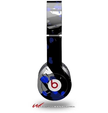 Abstract 02 Blue Decal Style Skin (Fits Genuine Beats Solo Hd Headphones - Headphones Not Included)