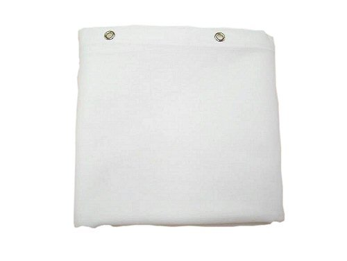 Sturdy Cotton Duck Shower Curtain, TUB Size, White (White Cotton Shower Curtain compare prices)