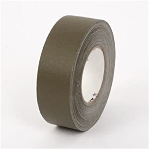 """Gaffer Industrial Vinyl Cloth Tape, 1"""" x 55 yds, 12 mil, Tensile: 48 lbs/inch, Olive Drab (3 Count)"""