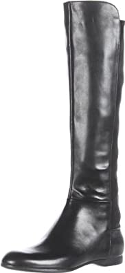 Enzo Angiolini Women's Zeric Knee-High Boot,Black Leather,5 M US