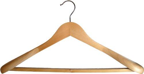 4 Holz Kleiderbügel mit breiten Enden und rutschfeste bar für Mäntel, Jacken & Hosen-Wählen Menge