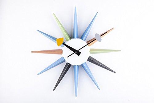 Telechron Metal Boutique Sunburst Wall Clock, Multi
