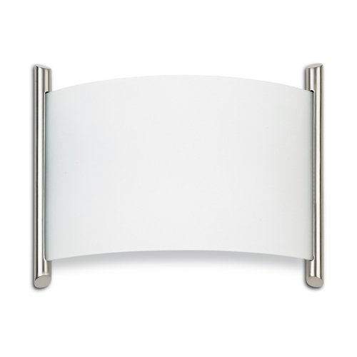 Leds C4 Grok Indoor Lighting Niza Iii Wall Light, Satin Nickel/ Satin Glass