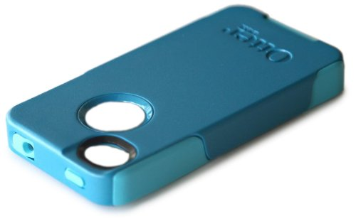 Otterbox Commuter Series Hybrid Case for iPhone 4 & 4S  - Retail Packaging - Deep Teal/Light Teal