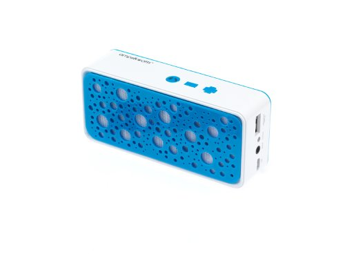 Amps&Watts Wireless Bluetooth Speaker With Power Bank - Retail Packaging - Blue
