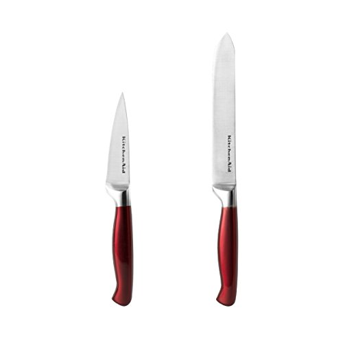 Kitchenaid Stainless Steel Fruit and Vegetable Set Knife Set, Candy Apple Red